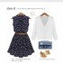 DRESS SIMPLE NAVY BERMOTIF TERBARU 2016