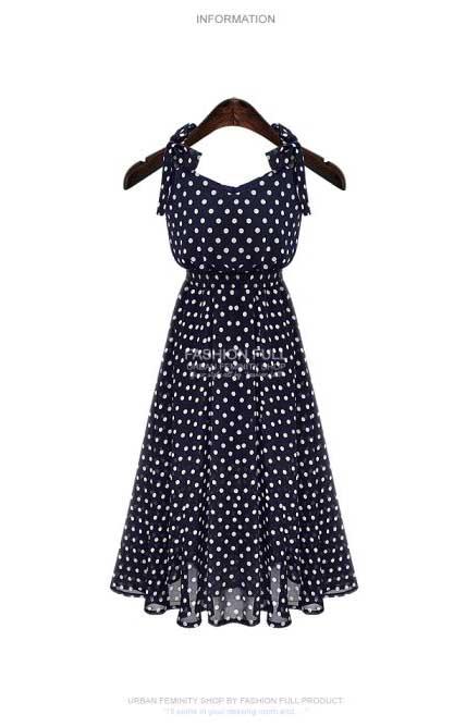 jual-long-dress-hitam-polkadot-cantik