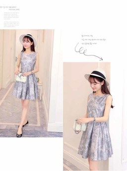 DRESS KOREA CANTIK IMPORT 2016