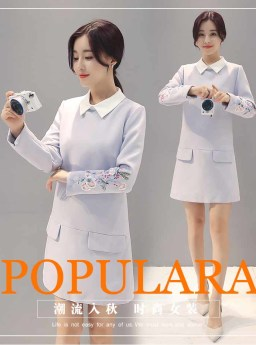 DRESS KOREA LENGAN PANJANG MODIS