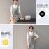 DRESS PUTIH ABU KOREA LENGAN PANJANG