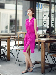 jual-dress-lengan-buntung-simple-cantik