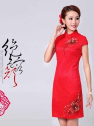 DRESS CHEONGSAM KOREA CANTIK IMPORT ELEGANT
