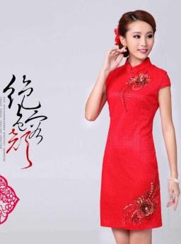 DRESS CHEONGSAM KOREA CANTIK IMPORT