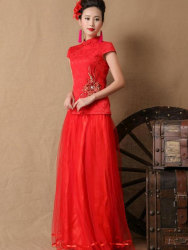 DRESS CHEONGSAM PANJANG ELEGANT IMPORT