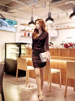 DRESS PESTA SEXY LENGAN PANJANG TERBARU