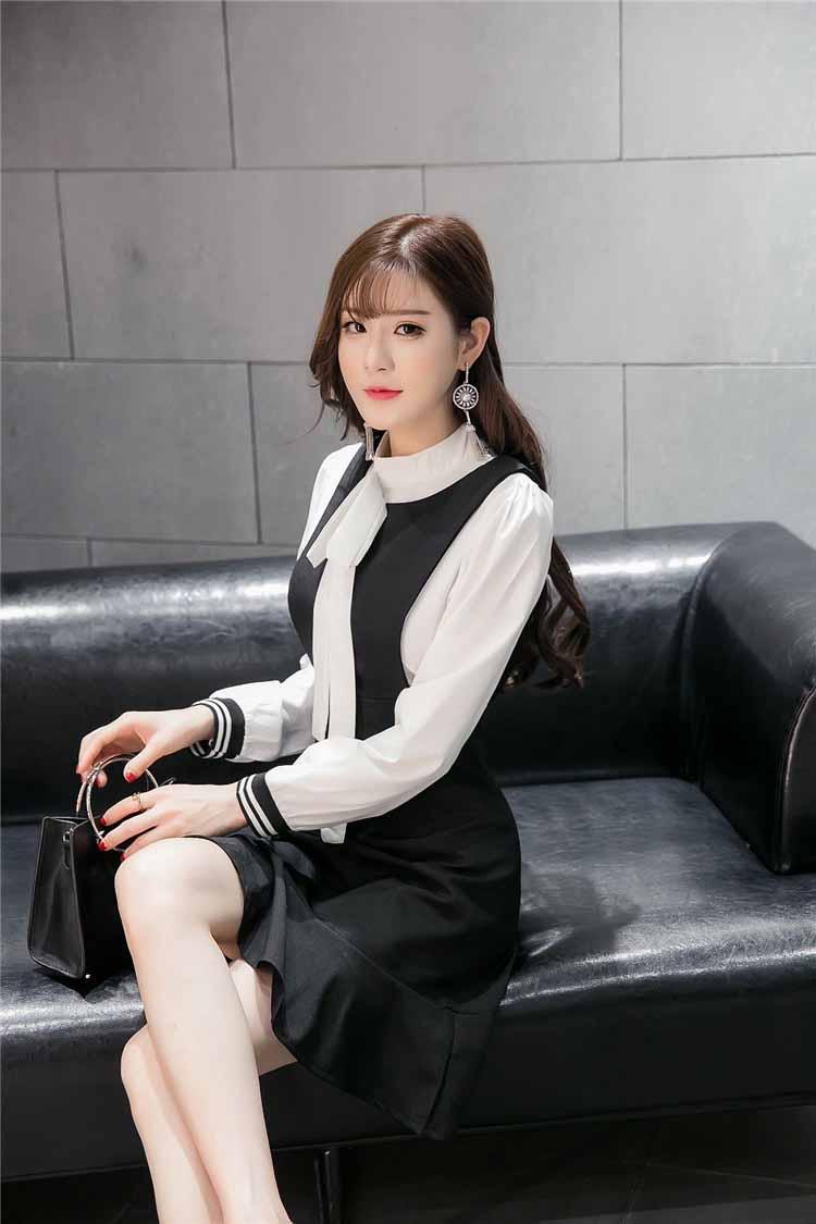 JUAL DRESS SIMPLE HITAM PUTIH ONLINE 2017