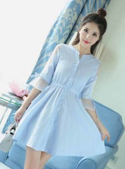 DRESS WANITA MOTIF STRIPE CANTIK 2017