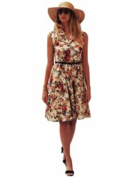 DRESS WANITA MODEL VINTAGE LENGAN BUNTUNG FASHION