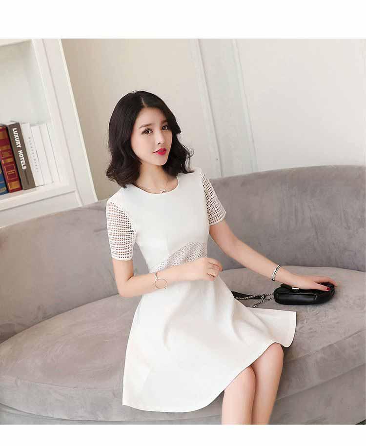 DRESS WANITA PUTIH KOREA CANTIK TERBARU 2017