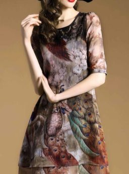 DRESS WANITA RENDA KOREA MOTIF 2017