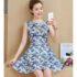 DRESS PESTA SIMPLE ELEGANT LENGAN BUNTUNG