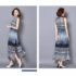 LONG DRESS WARNA BIRU LENGAN BUNTUNG