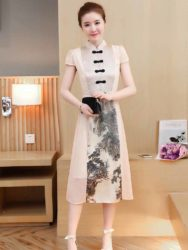 DRESS CHEONGSAM MODEL PANJANG MURAH 2018