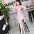 DRESS CHEONGSAM PINK MODERN TERBARU 2018