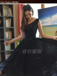 JUAL LONG DRESS PESTA HITAM ELEGANT TERBARU